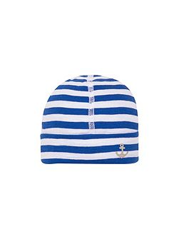 Baby anchor print hat