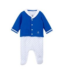 Baby boys jacket and sleepsuit set