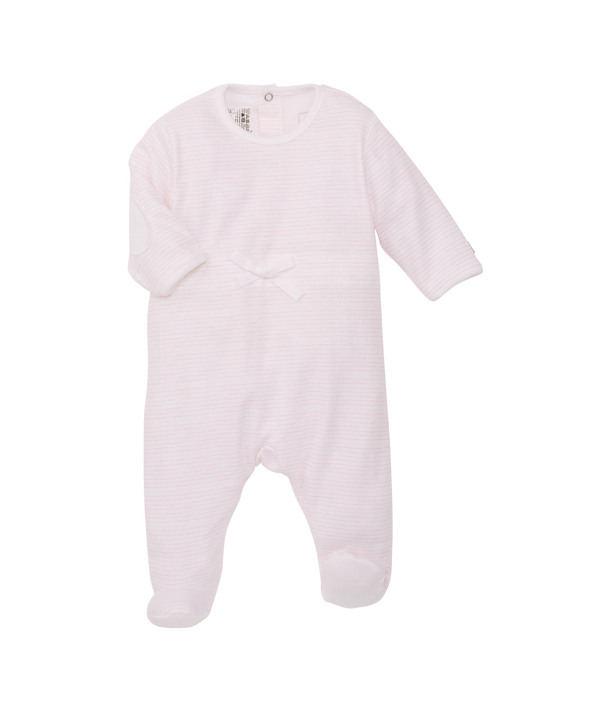 Baby boys painted stripe sleepsuit