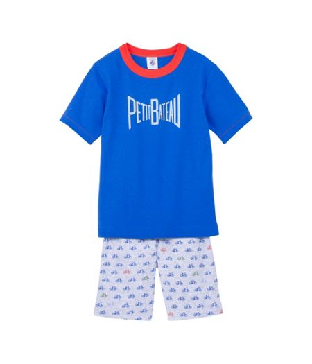 Petit Bateau Boys short cotton pyjamas