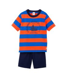 Petit Bateau Boys short wide stiped pyjamas