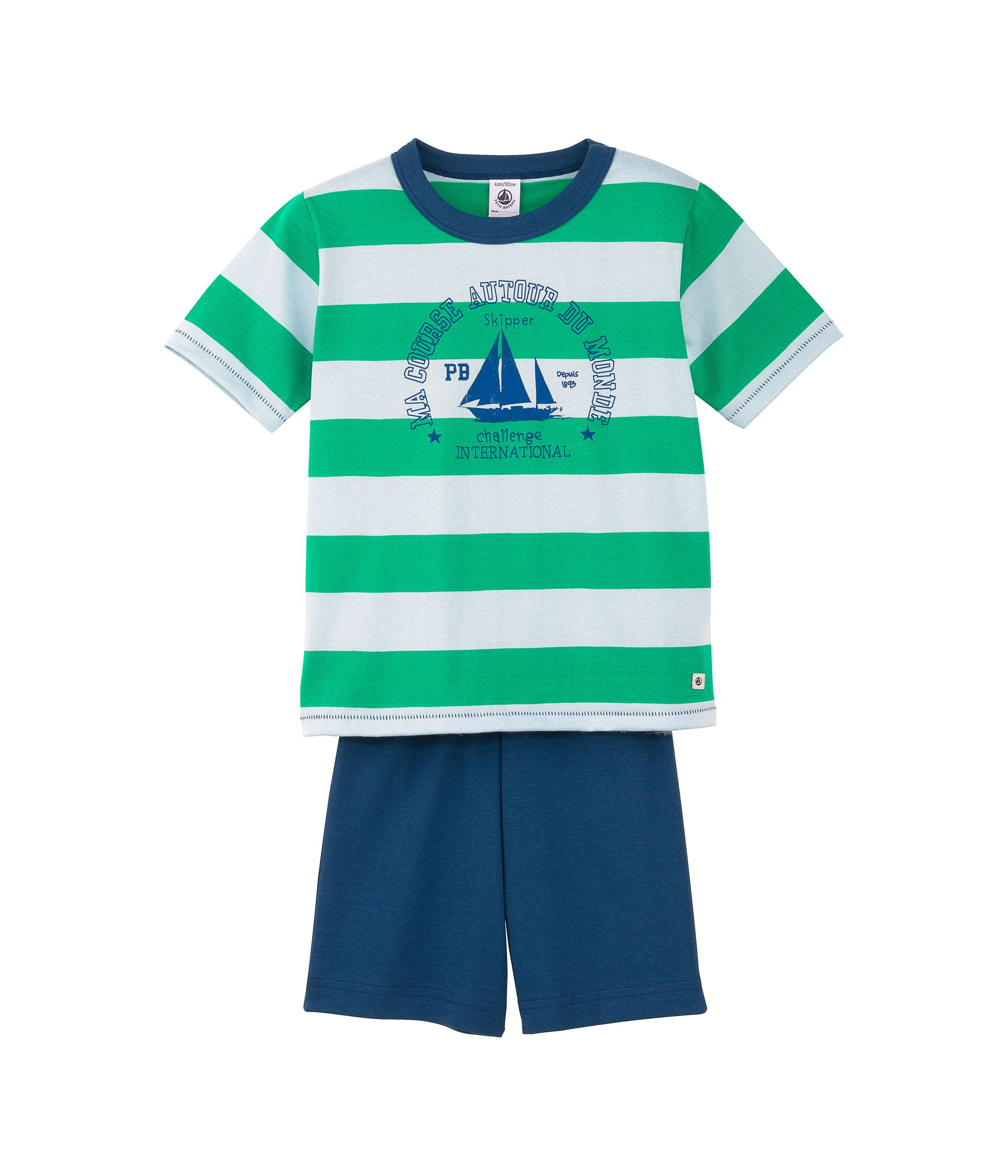 Boys short wide stiped pyjamas