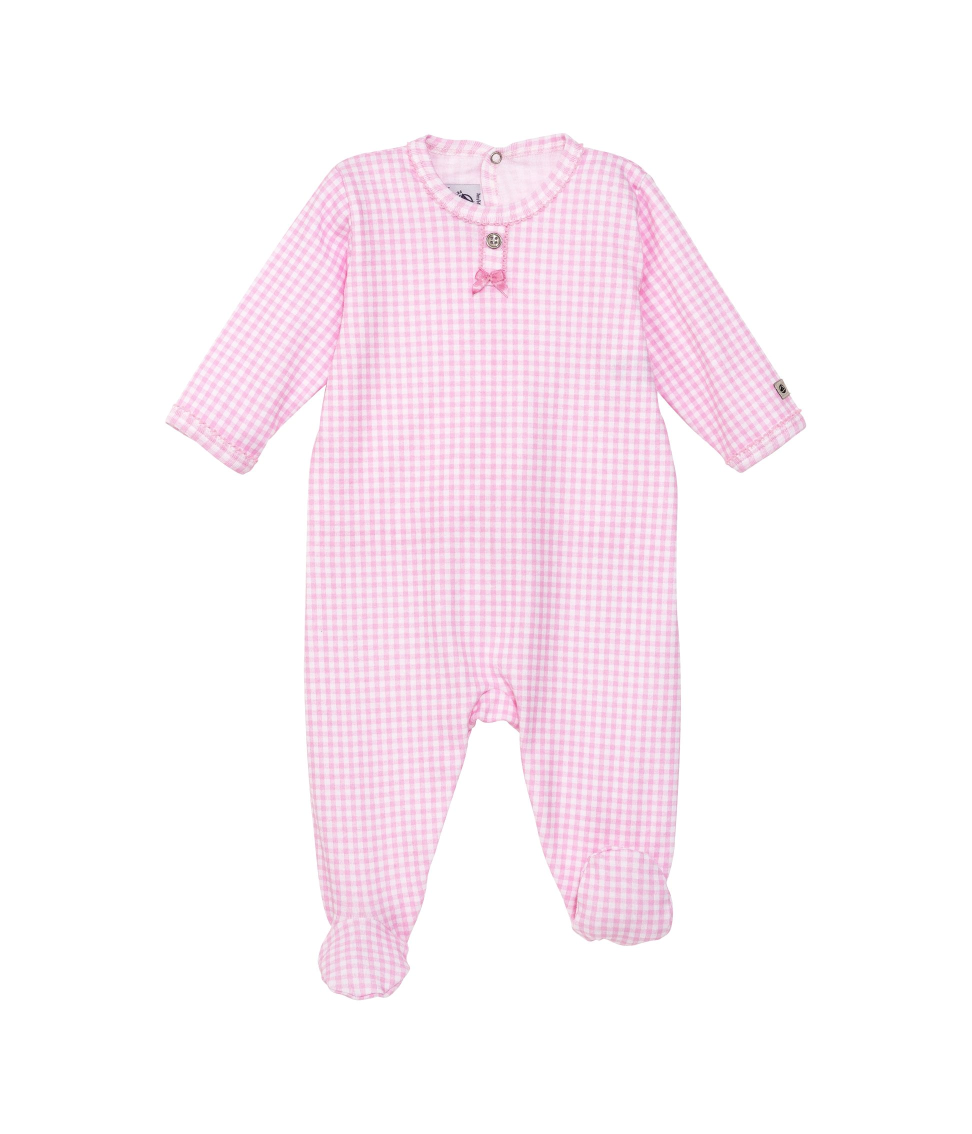 Baby girls gingham sleepsuit