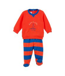 Baby boys pyjamas with feet