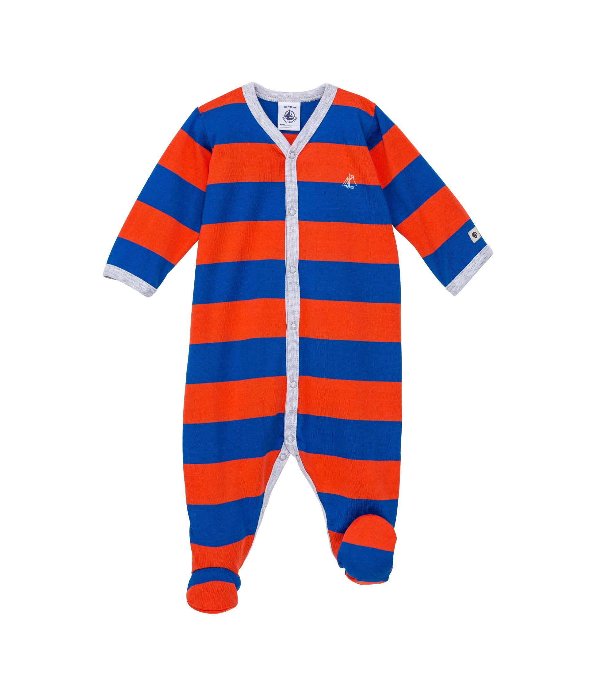 Baby boys sailboat sleepsuit