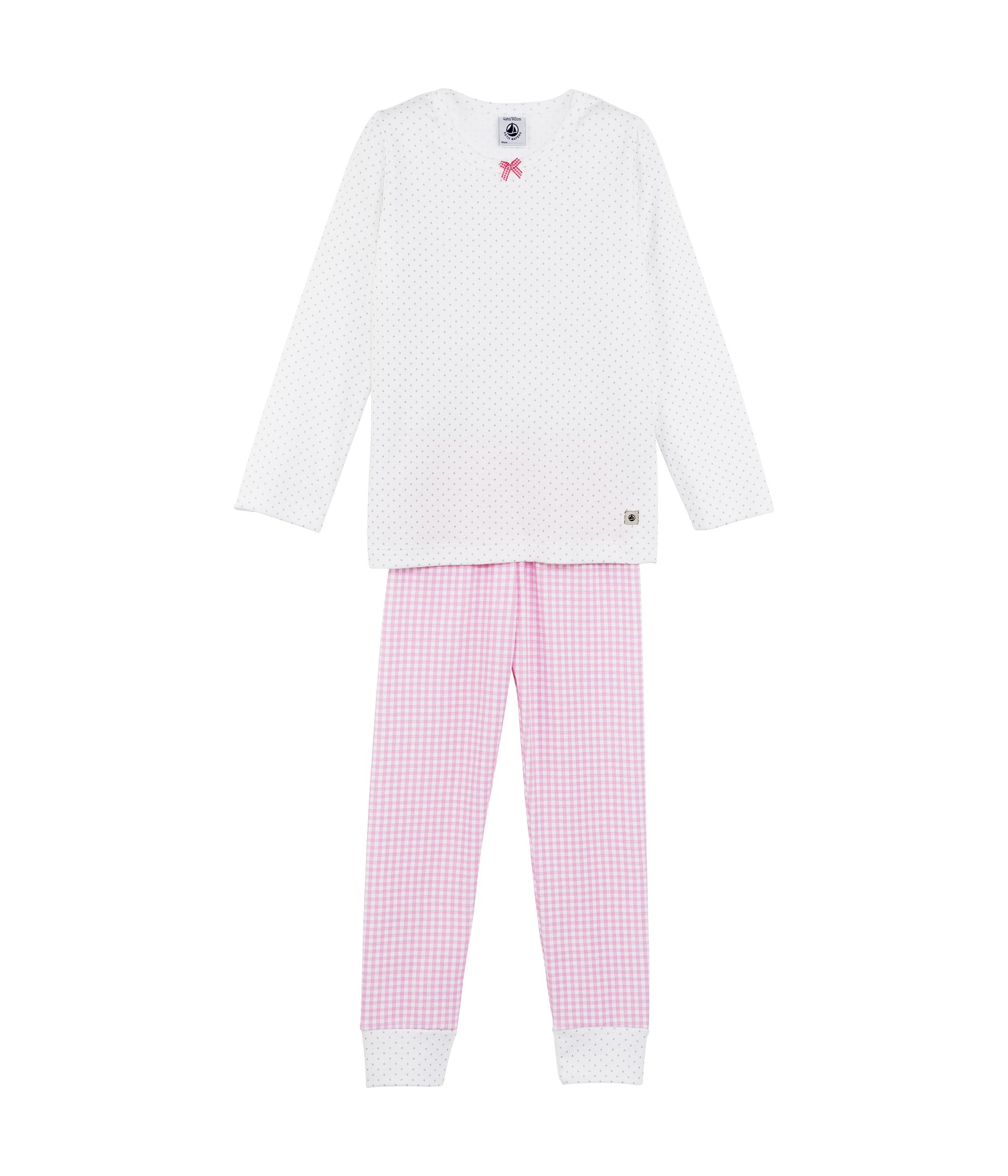 Girls cotton mix & match print pyjamas