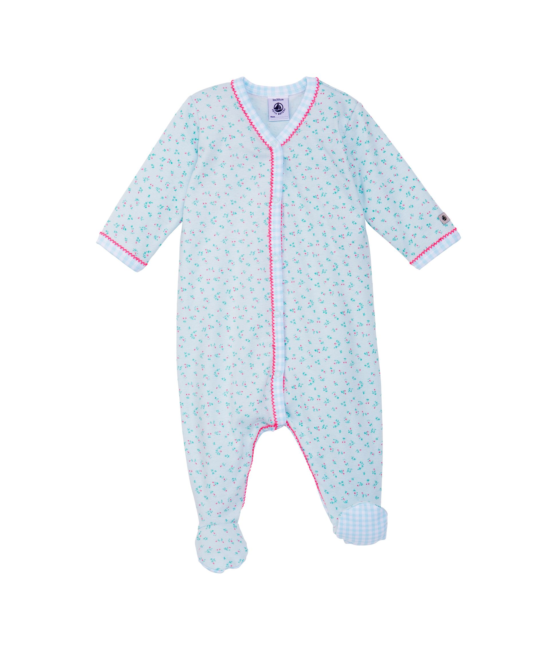 Baby girls bouquet print sleepsuit