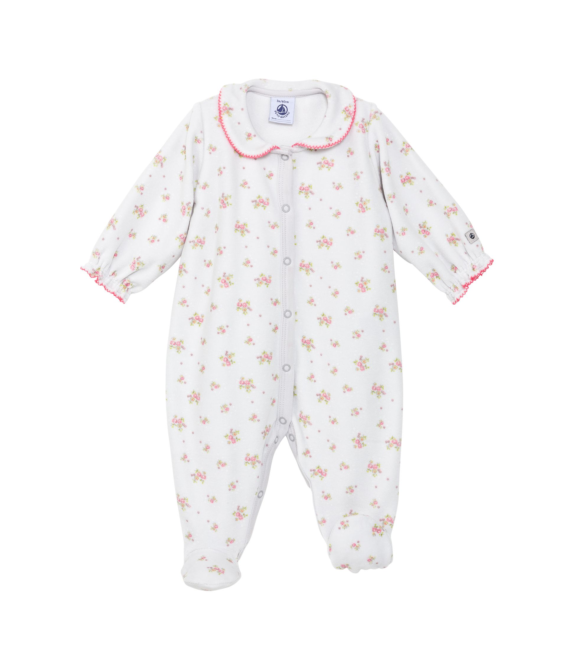 Baby girls floral sleepsuit