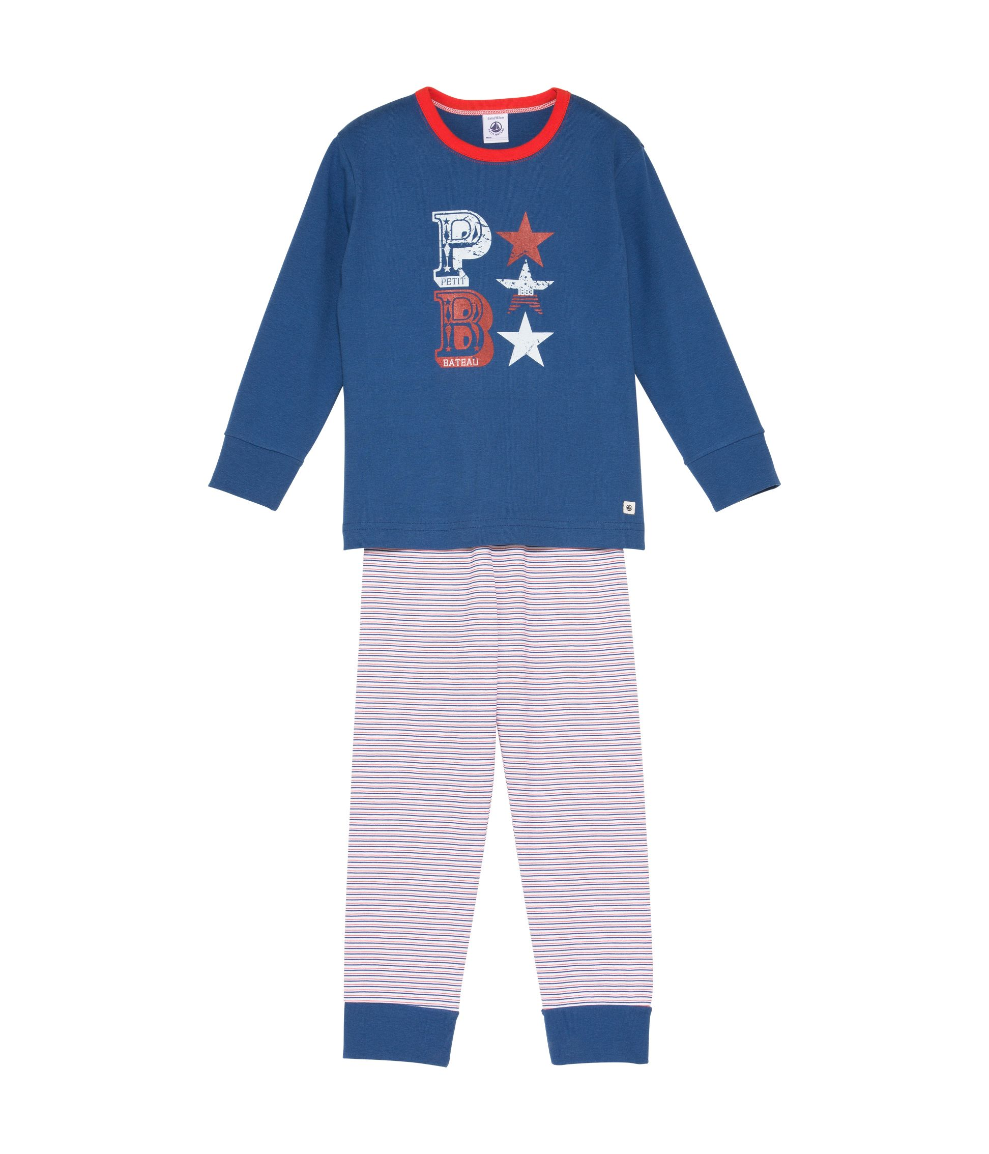 Boys top and jersey bottoms pyjamas