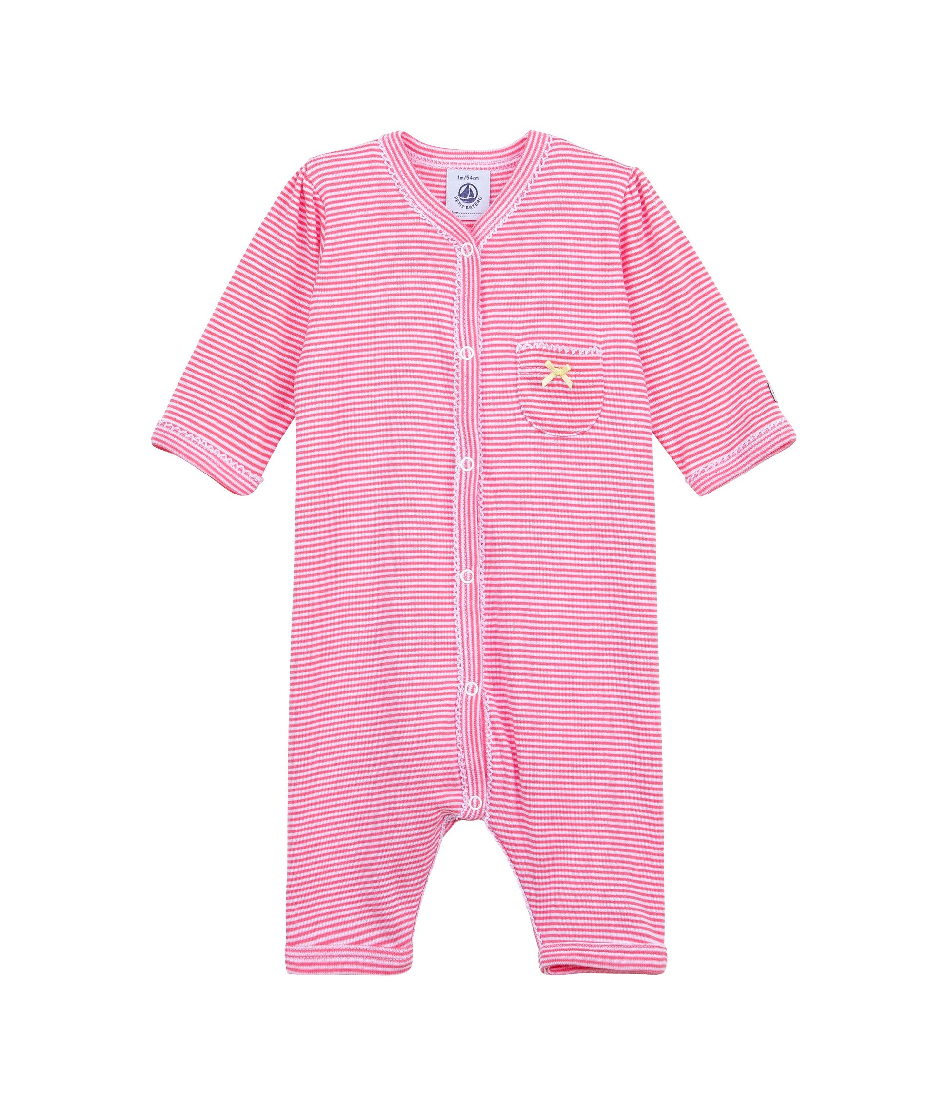 Baby girls footless sleepsuit