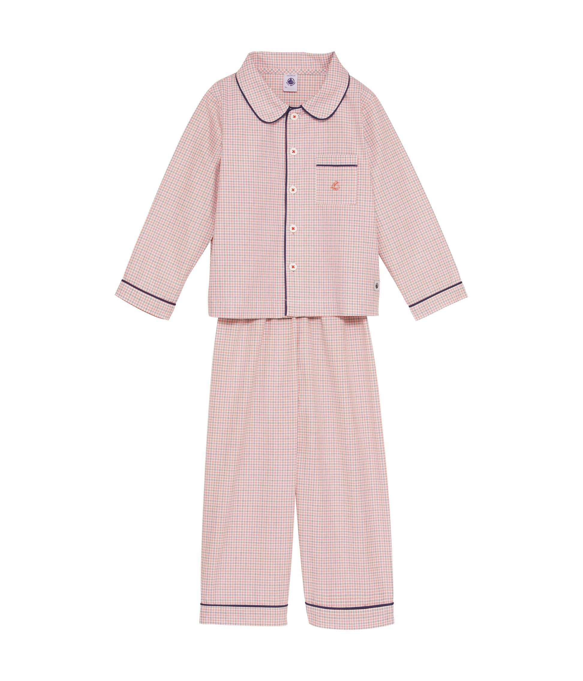 Boys checked poplin pyjamas