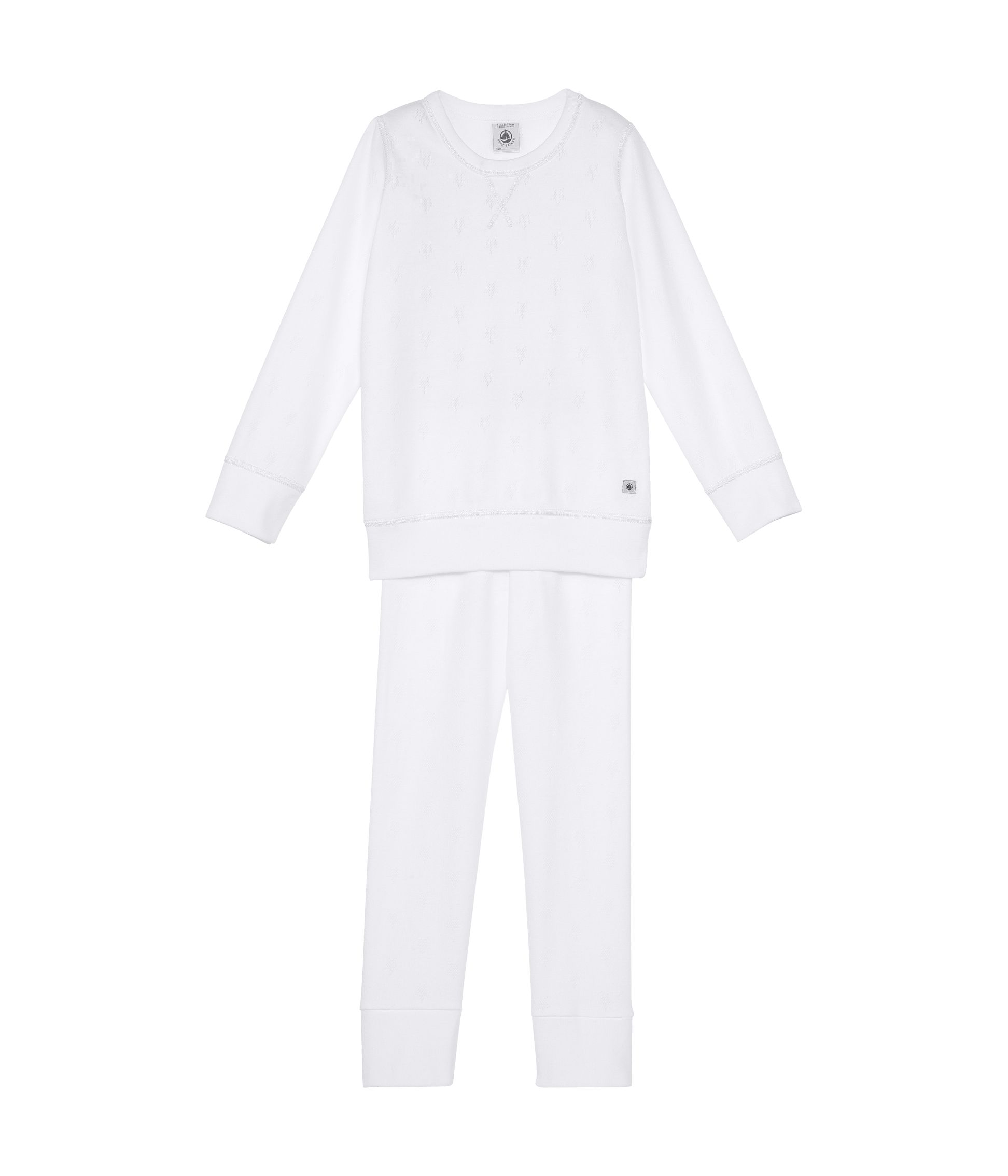 Girls plain rib knit pyjamas