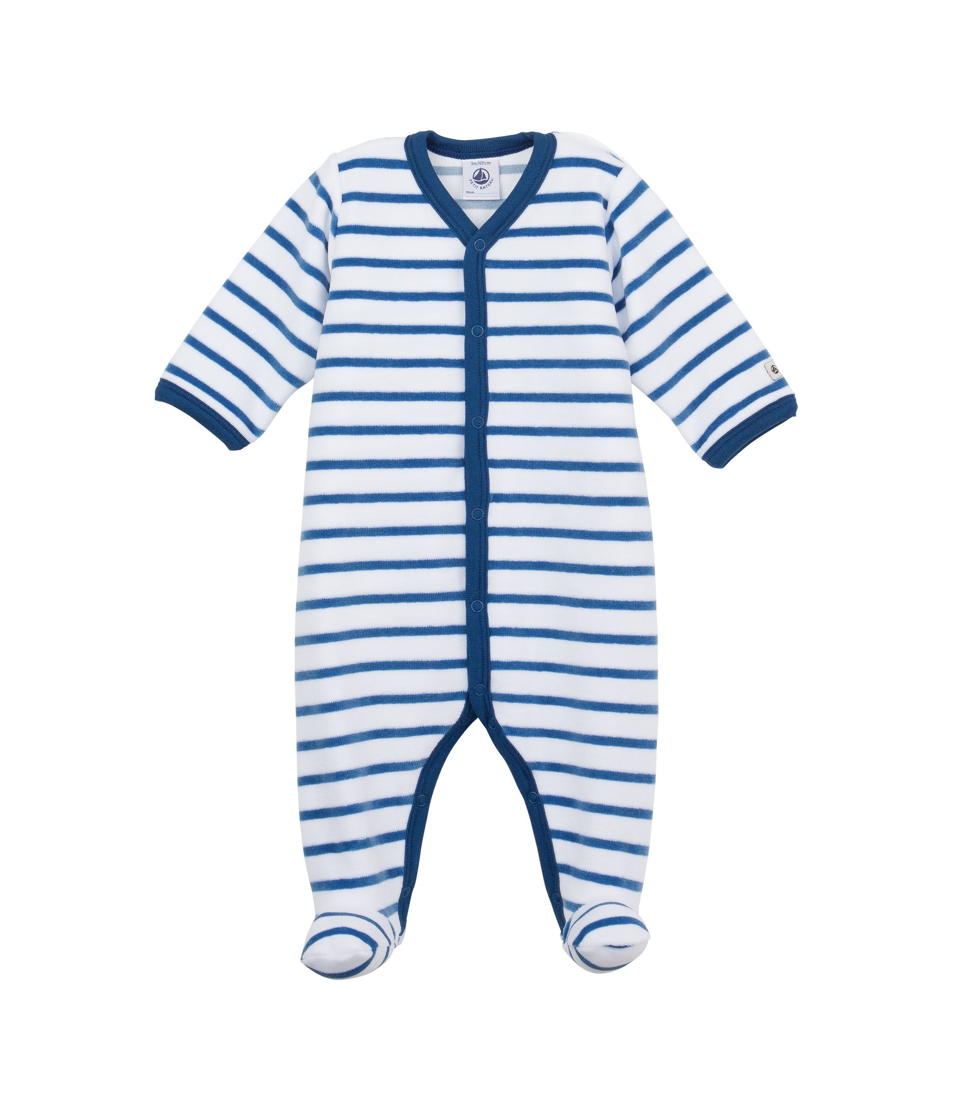 Baby boys sailor sleepsuit