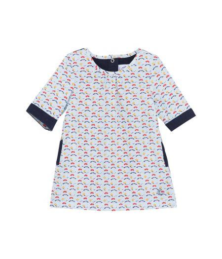 Petit Bateau Baby girls long sleeve dress
