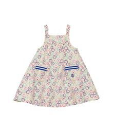Baby girls poplin strap sleeveless dress