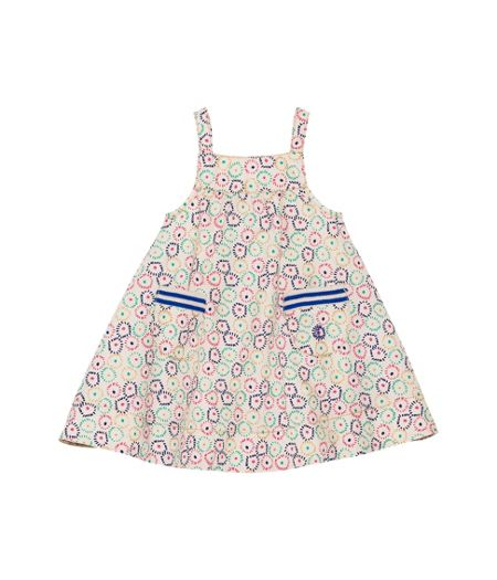 Petit Bateau Baby girls poplin strap sleeveless dress