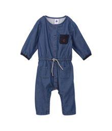 Baby girls chambray playsuit