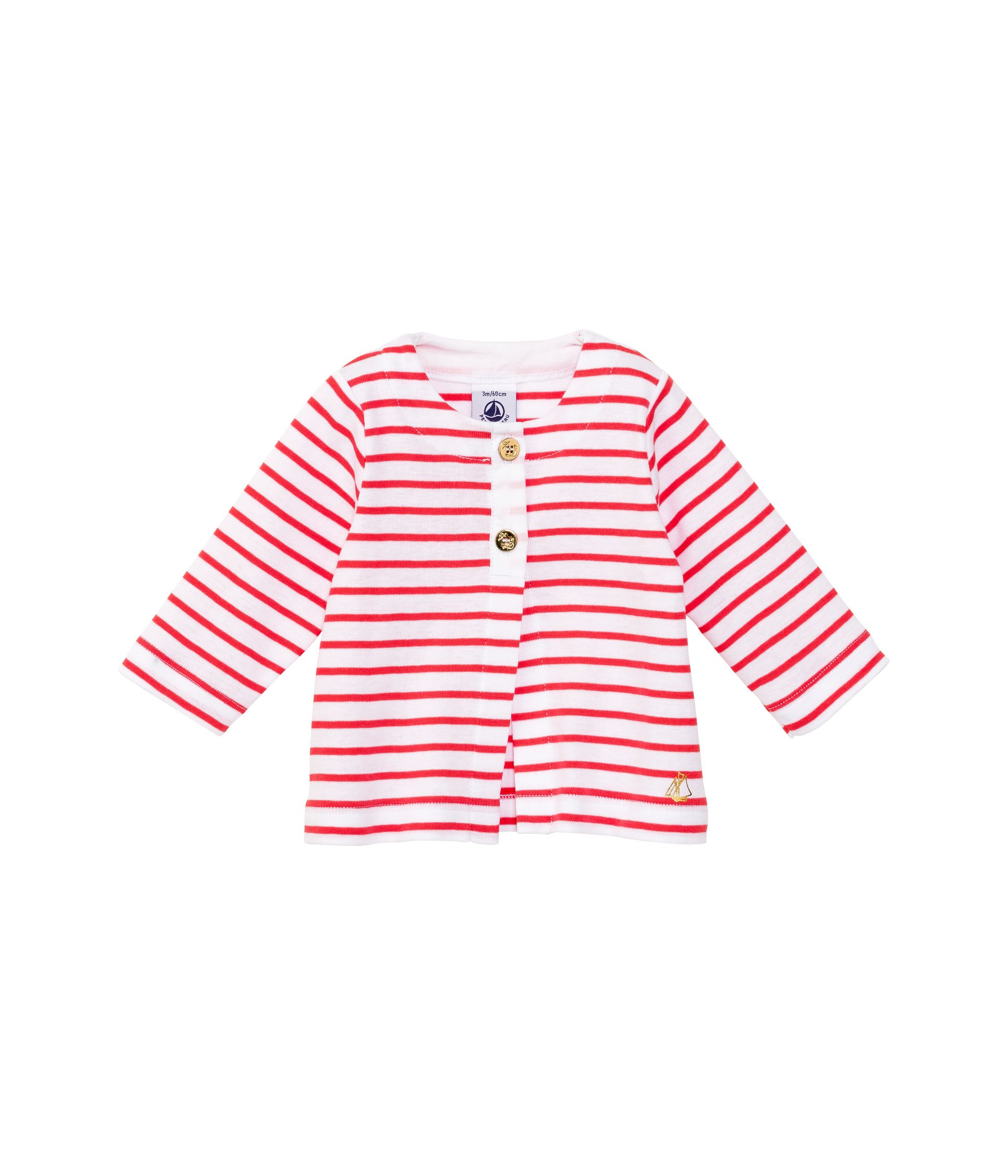 Baby girls cotton stripe cardigan