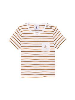 Baby boys sailor stripe short sleeve t-shirt