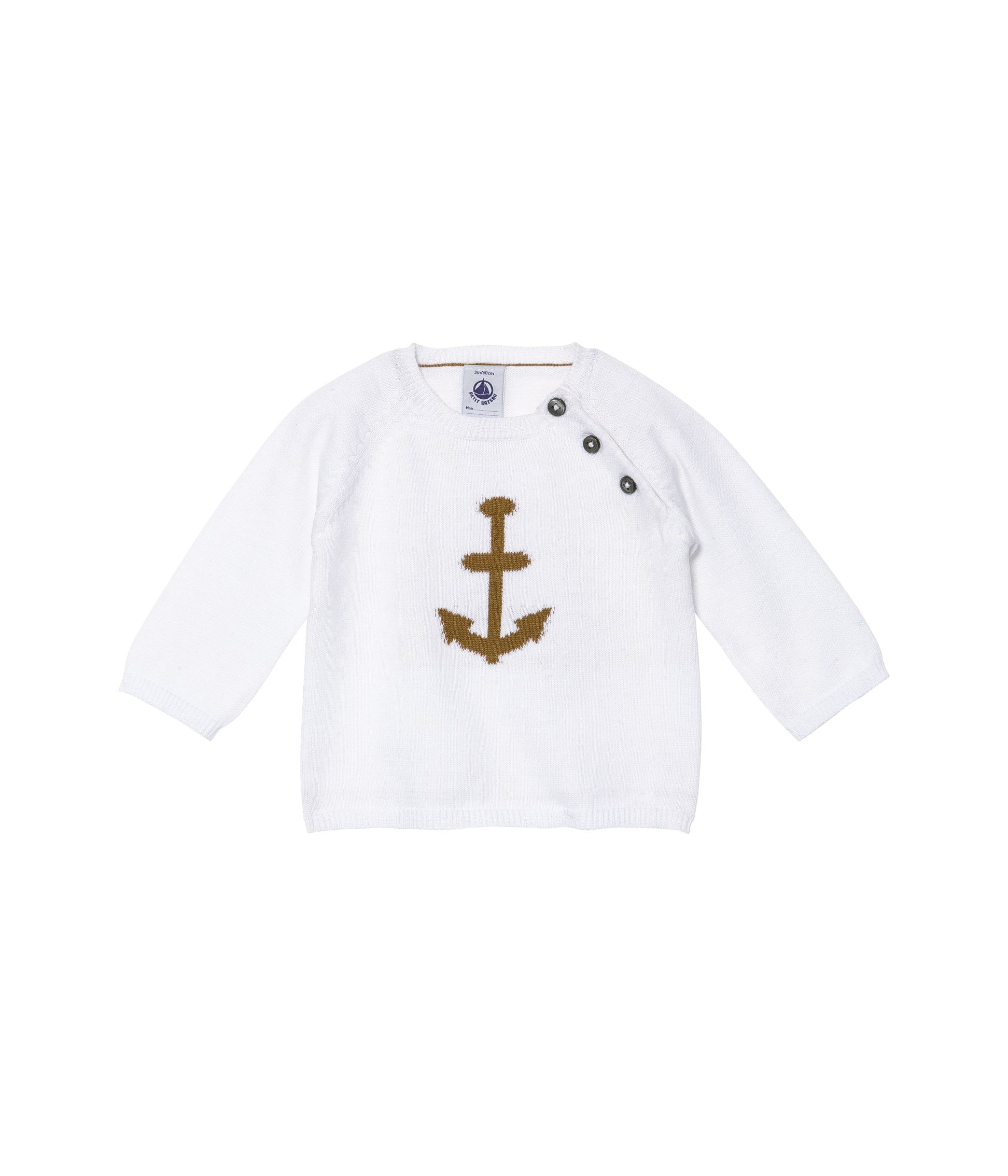 Baby boys cotton knit jumper