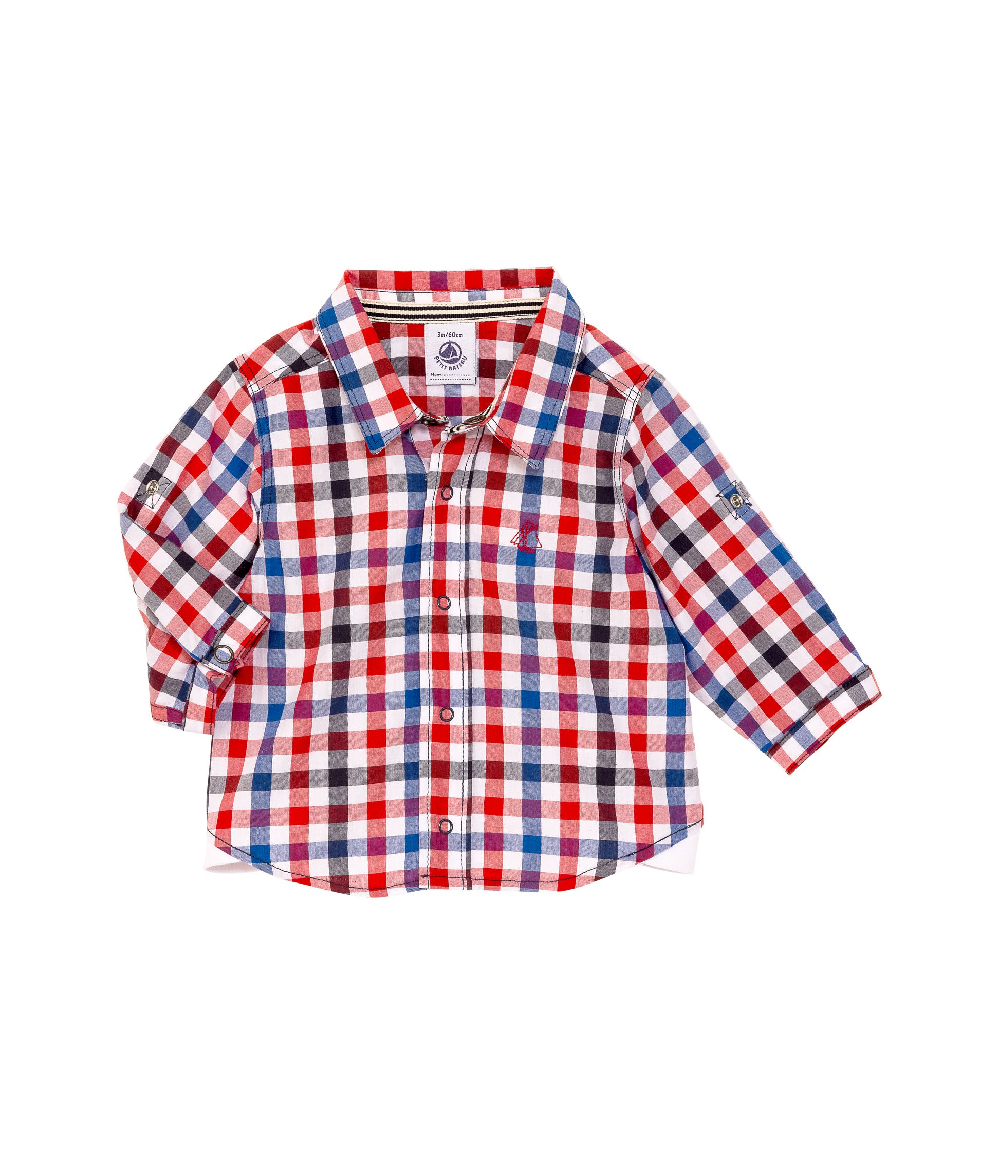 Baby boys long sleeve poplin shirt