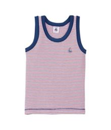 Boys striped Lycra jersey vest top