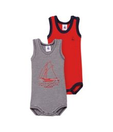 Baby boys 2 pack of bodysuits