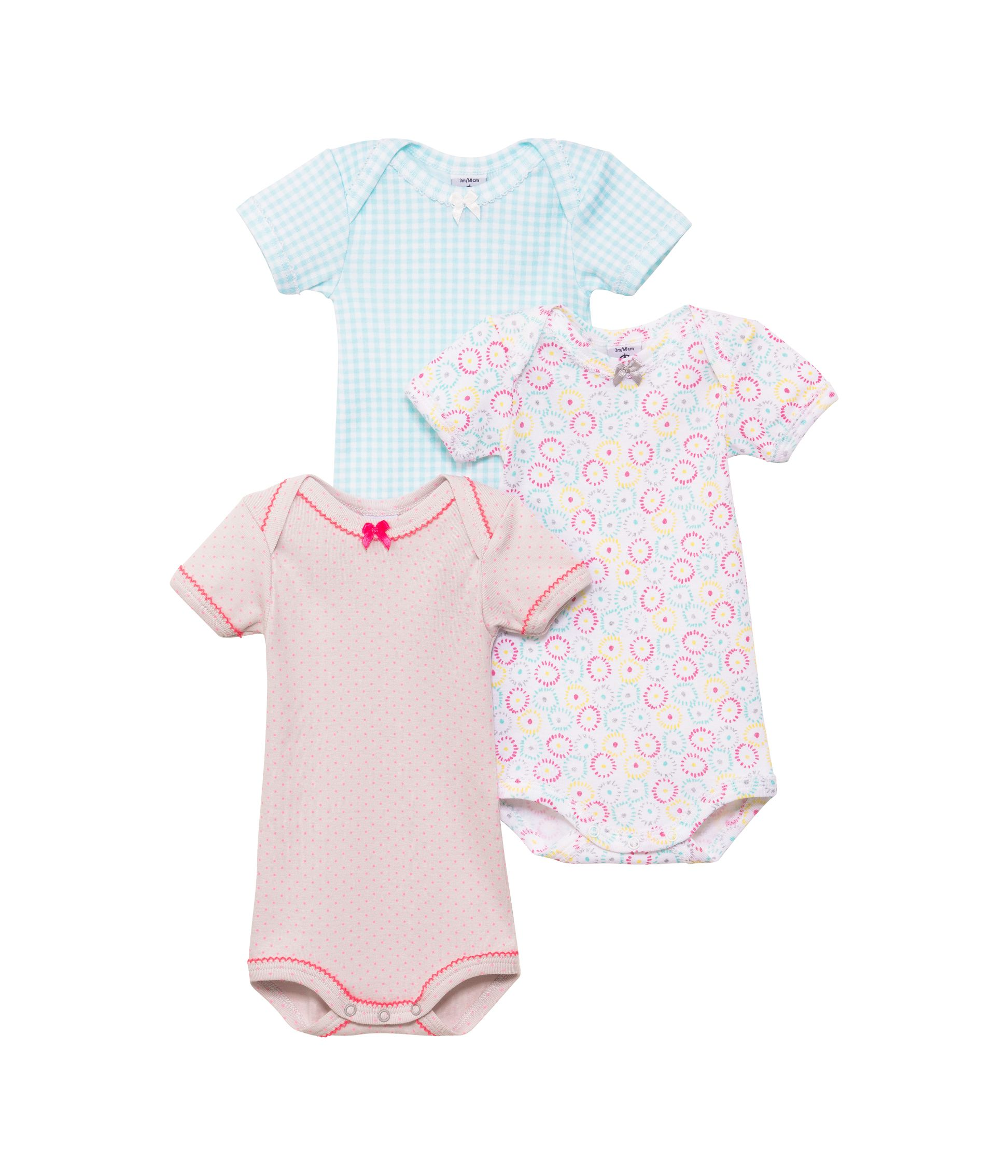 Baby girls 3 pack of bodysuits