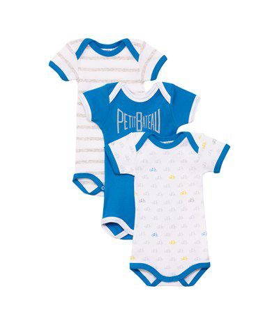 Baby boys 3 pack of bodysuits
