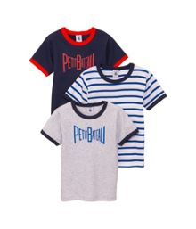 Petit Bateau Boys 3 pack of cotton t-shirts