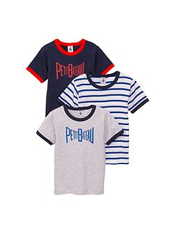 Boys 3 pack of cotton t-shirts