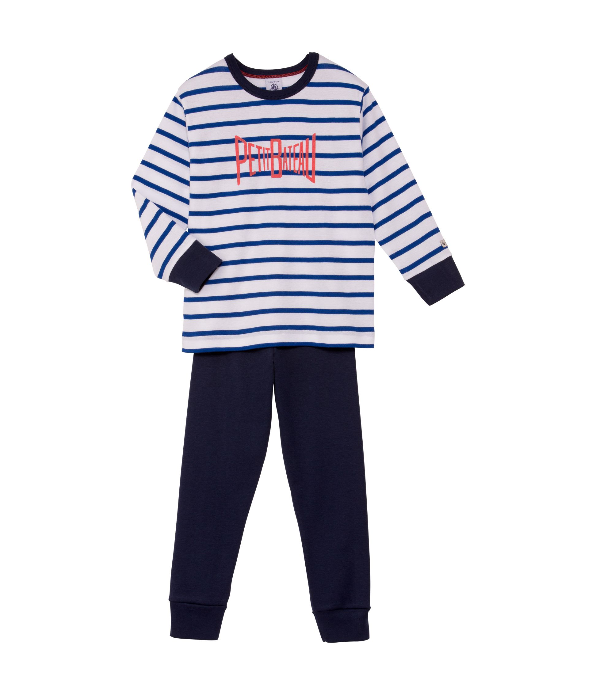 Boys sailor stripe cotton pyjamas