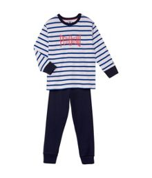 Petit Bateau Boys sailor stripe cotton pyjamas