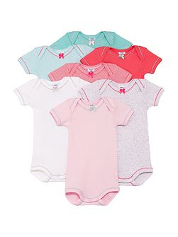 Baby girls 7 days of the week bodysuits