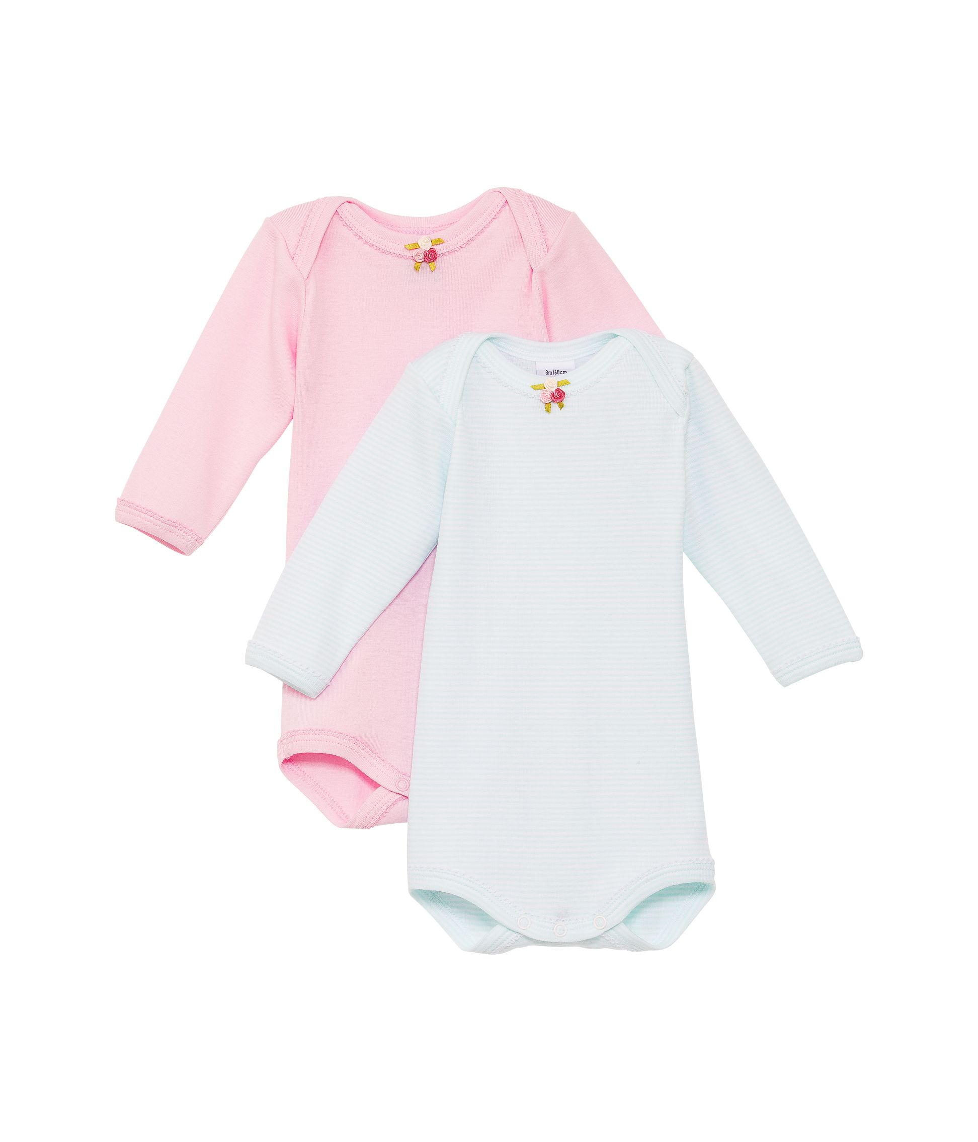 Baby girls 2 pack bodysuits