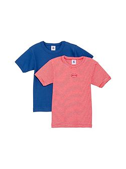 Boys 2 pack of short sleeve t-shirts