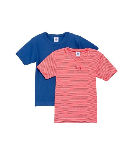 Petit Bateau Boys 2 pack of short sleeve t-shirts