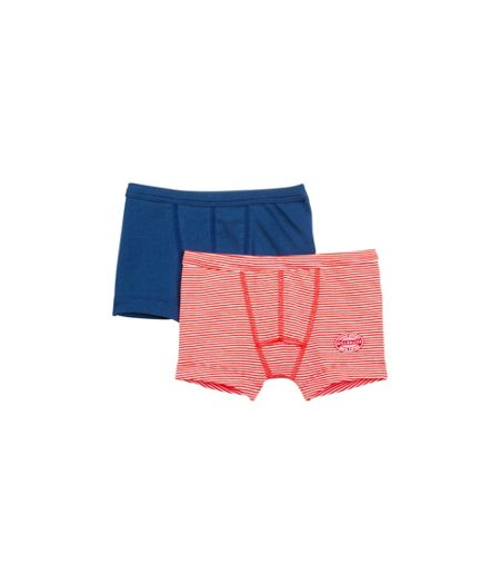 Petit Bateau Boys 2 pack of cotton boxer shorts