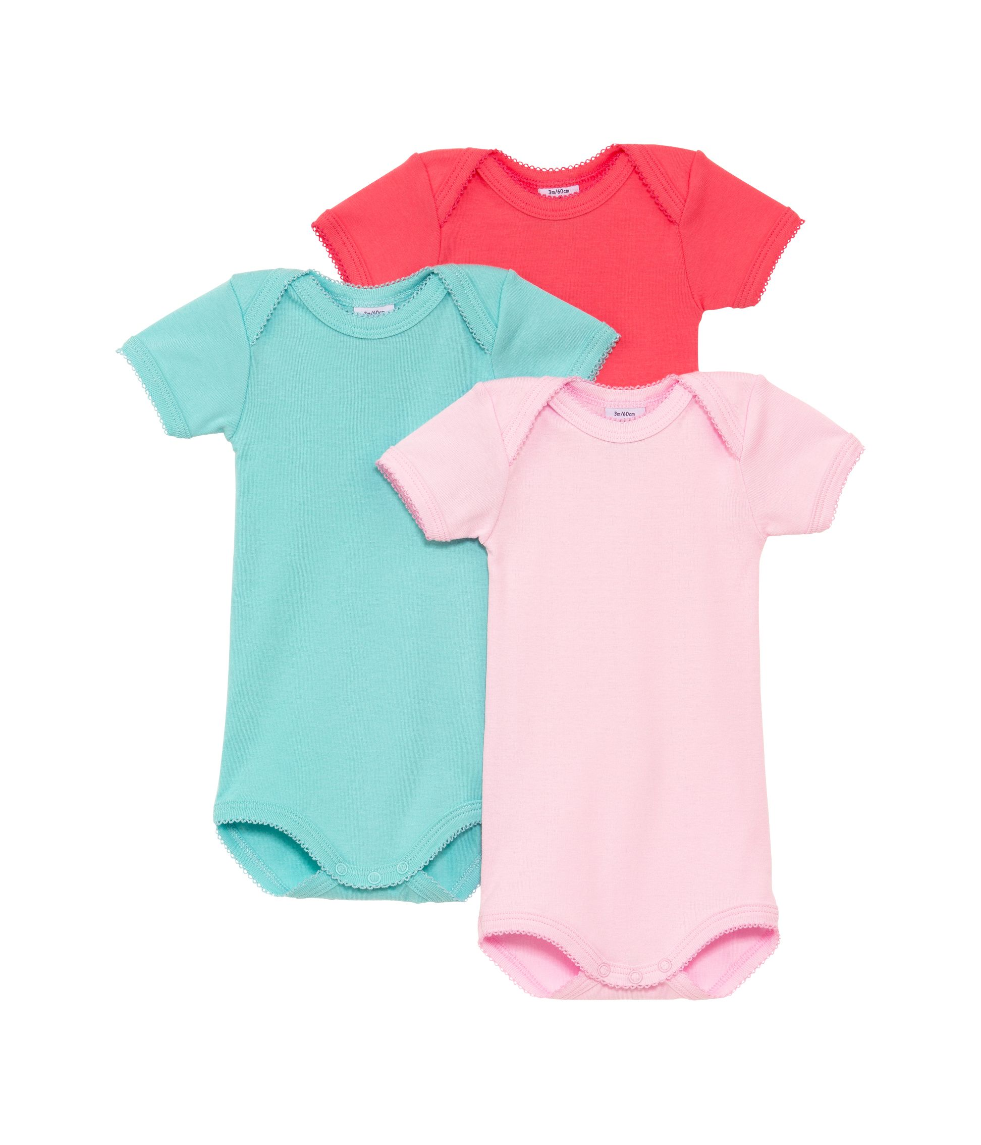Baby girls 3 pack bodysuits