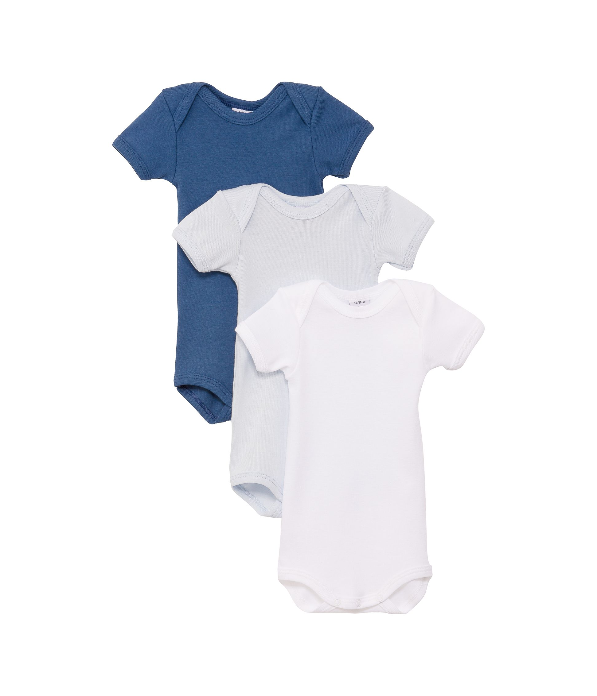 Baby boys 3 pack of short sleeve bodysuits