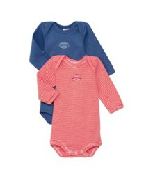 Baby boys 2 pack of short sleeve bodysuits