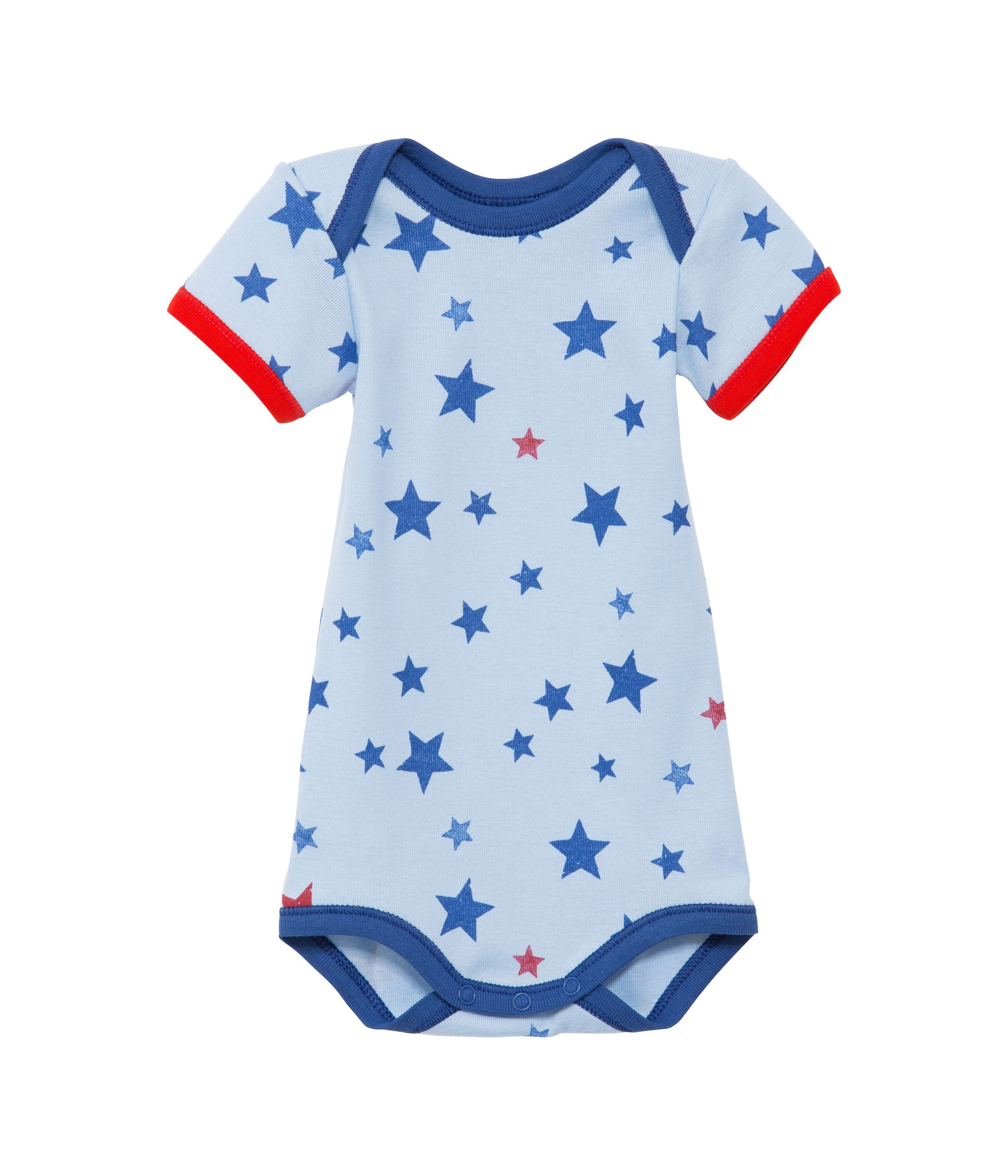 Baby boys star print short sleeve bodysuit