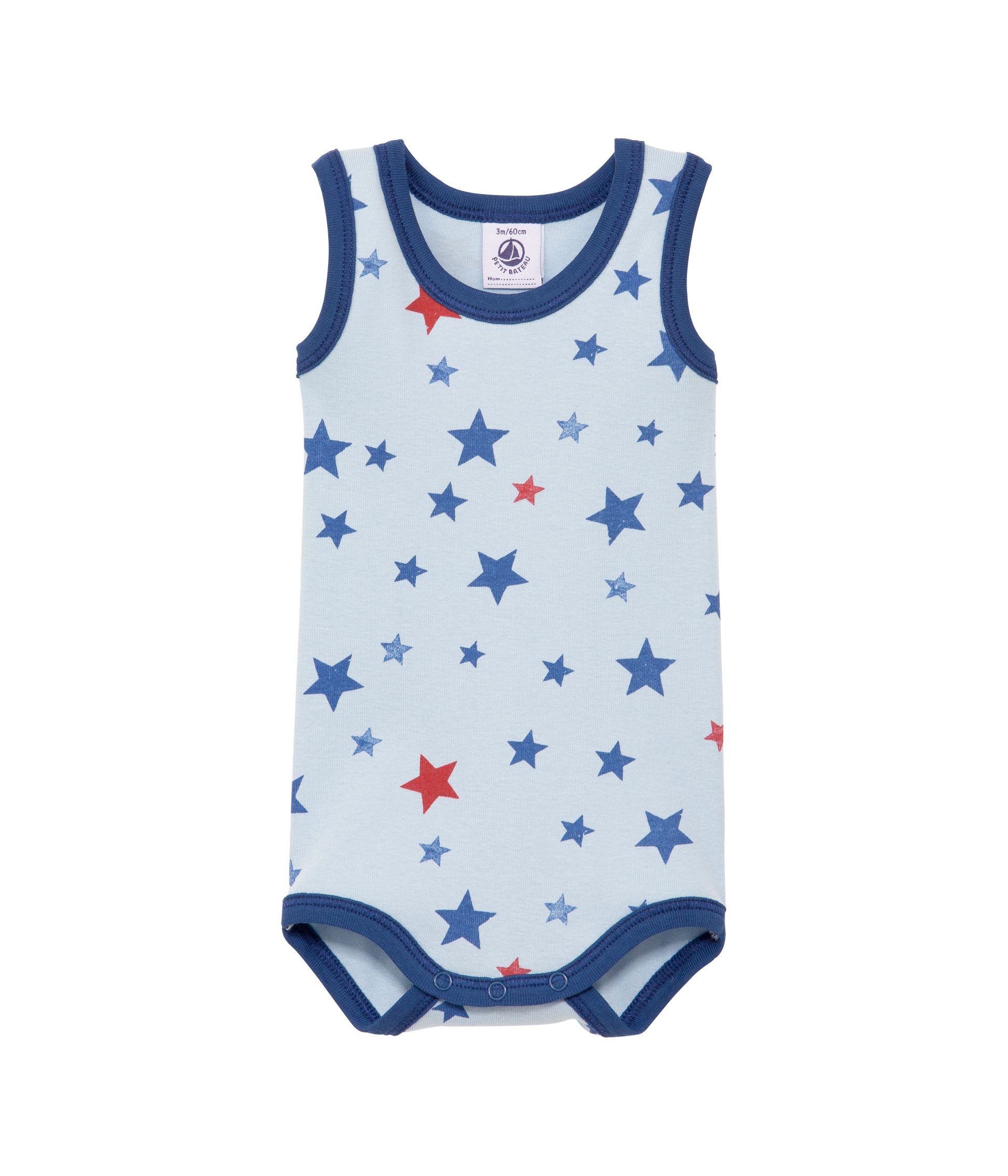 Baby boys star print sleeveless bodysuit