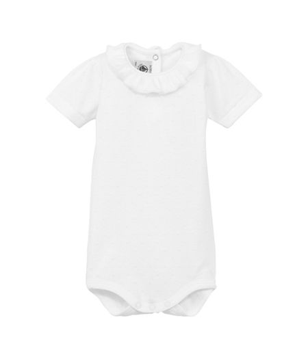 Petit Bateau Baby girls short sleeve bodysuit