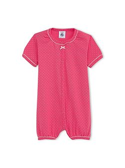 Baby Girls Cotton Polka Dot Shortie