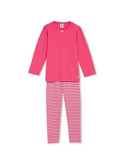 Girls Pyjamas With Dots And Stripes
