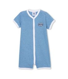 Baby Boys Striped Cotton Shortie