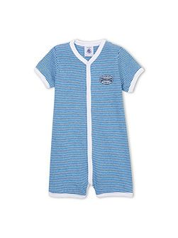Petit Bateau Baby Boys Striped Cotton Shortie