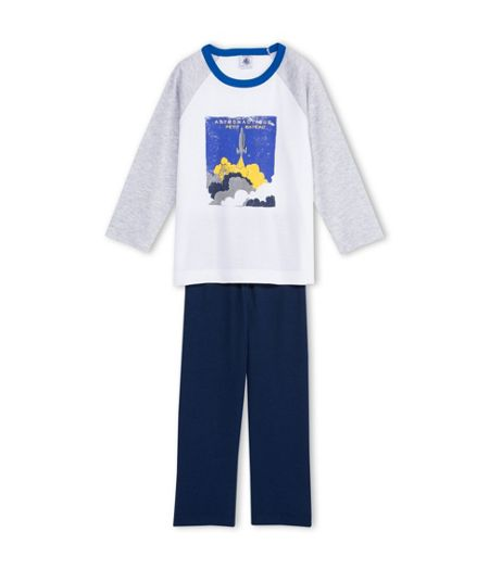 Petit Bateau Boys Cotton Pyjama With Print