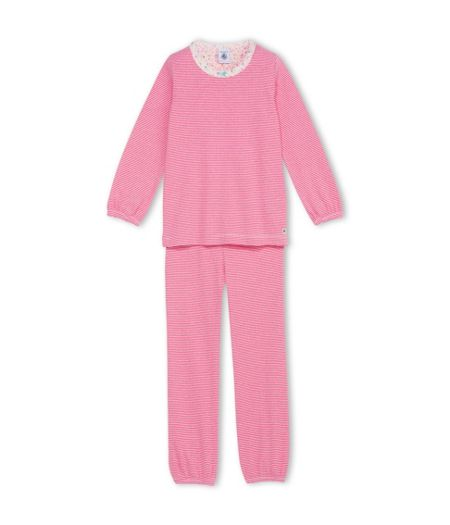 Petit Bateau Girls Striped Cotton Pyjamas
